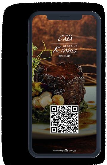 Menú digital para el restaurante - Casa Krauss