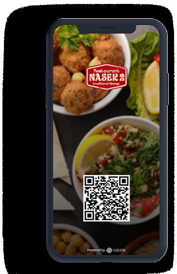 Digital menu for Naser 2 restaurant